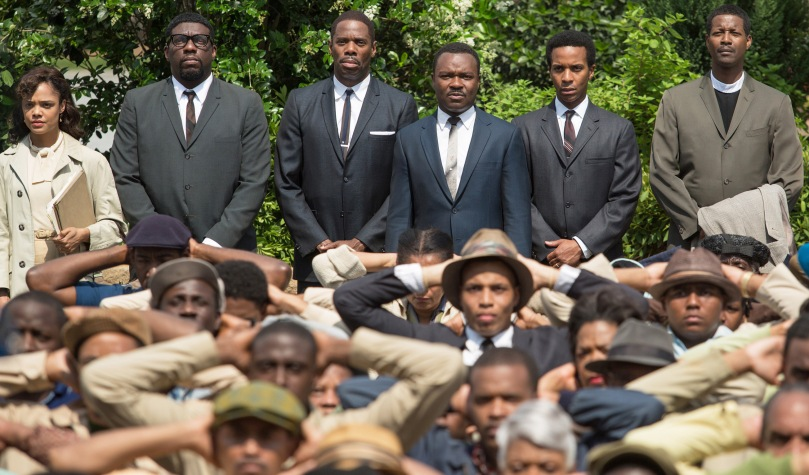 A powerful image, which sums up the power of the black American civil rights movement and the movie.