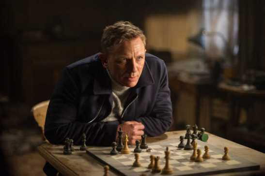 Bond's here to play chess and kick ass.