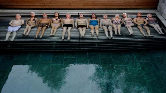 Old People in a Pool